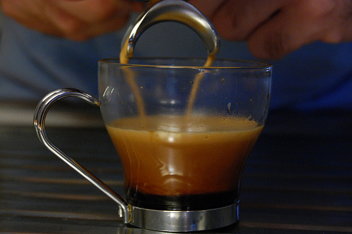 13: Hubby's routine Hubby loves his coffee, here he is making his doppio with his mypressi twist at home. The coffee smelt sooo good! To read the rest of my babble click the image. task 13 complete. - part of my joy of LOVE -