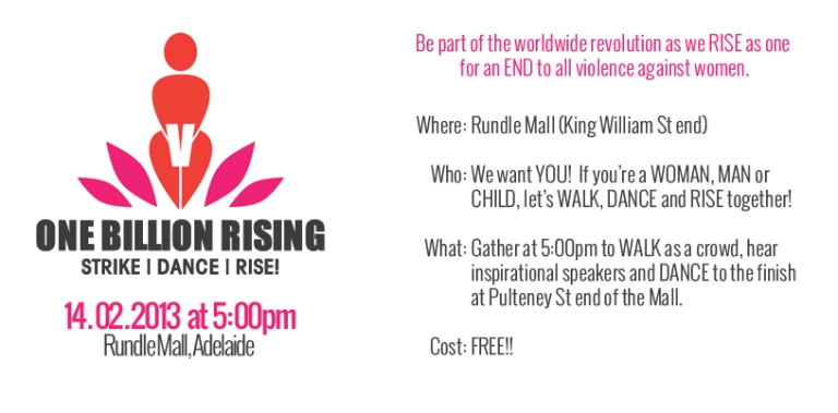 You're invited to One Billion Rising Adelaide