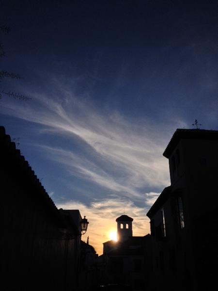 Enjoying the simple delights of a setting sun Albayzin, Granada